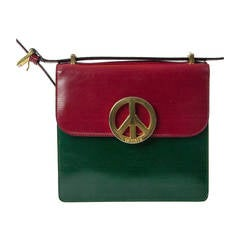 Moschino Redwall Peace&Love Multicolored Bag, Late 1980s