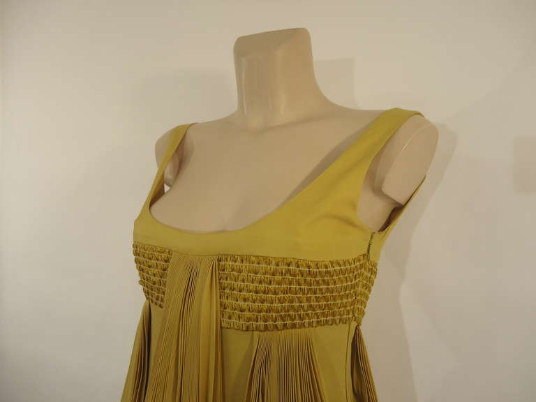2008 Byblos Ochre Silk Evening Dress 4