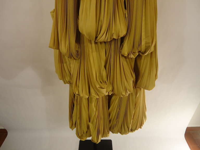2008 Byblos Ochre Silk Evening Dress 7