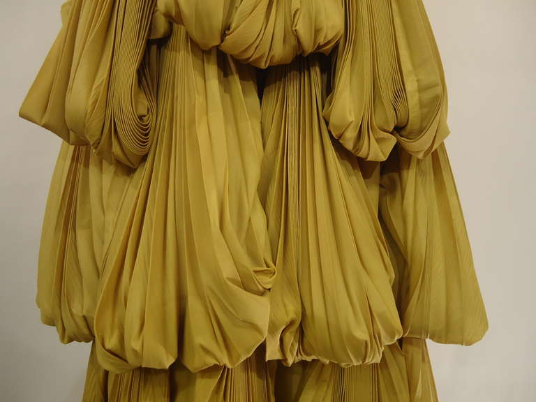 2008 Byblos Ochre Silk Evening Dress 6