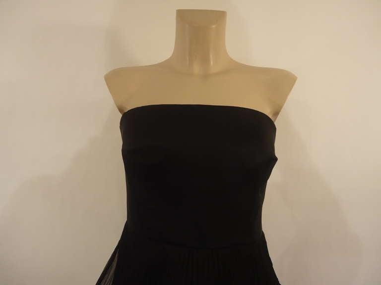 Women's Giorgio Armani Black Label Silk Evening Dress, 1980s  For Sale