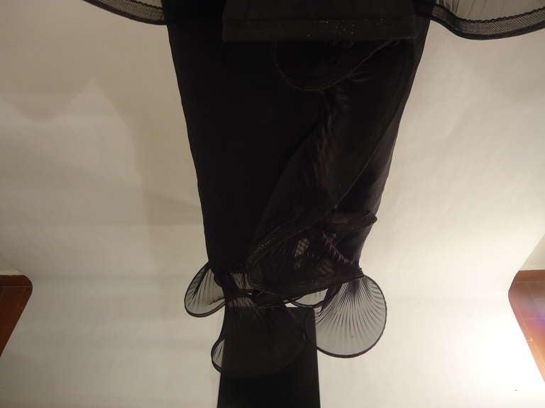 1980s Giorgio Armani Black Label Silk Evening Dress For Sale 2