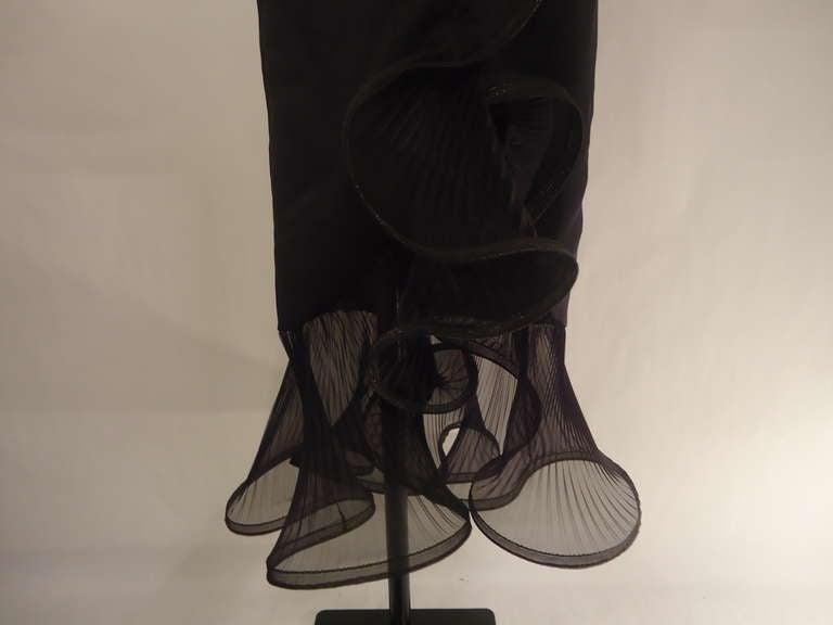 1980s Giorgio Armani Black Label Silk Evening Dress For Sale 4