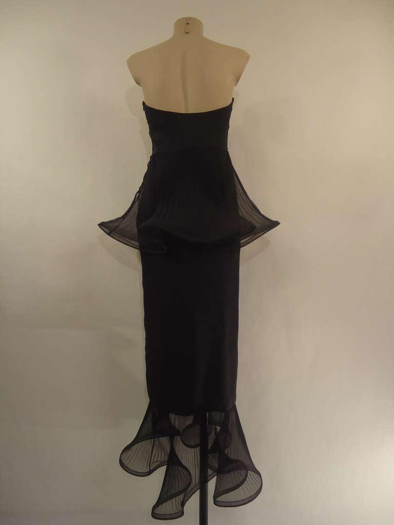 1980s Giorgio Armani Black Label Silk Evening Dress In Excellent Condition For Sale In Gazzaniga (BG), IT