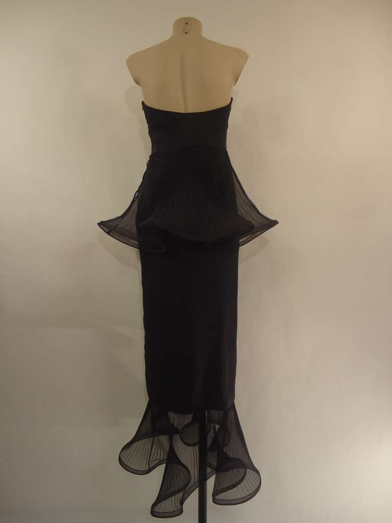 1980s Giorgio Armani Black Label Silk Evening Dress 3