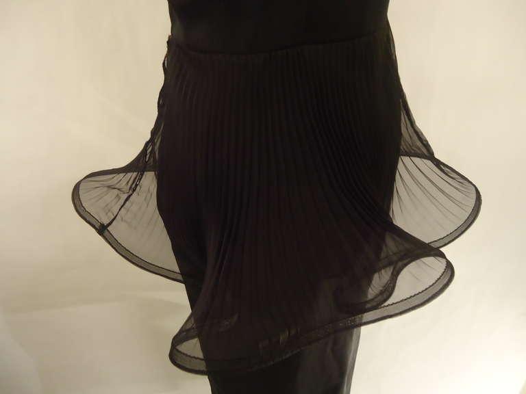 1980s Giorgio Armani Black Label Silk Evening Dress For Sale 3