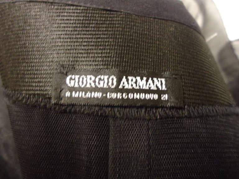 1980s Giorgio Armani Black Label Silk Evening Dress 9