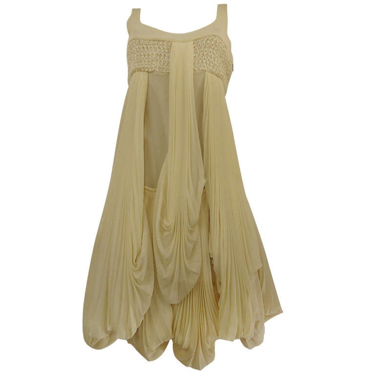 Byblos Ivory Silk Cocktail Dress, 2008
