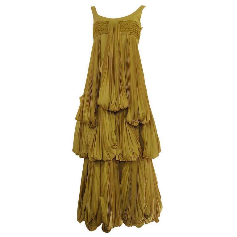 Byblos Ochre Silk Evening Dress, 2008