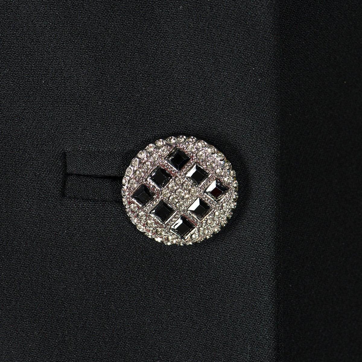 Gai Mattiolo Couture Black Lace and Viscose Skirt Suit 3