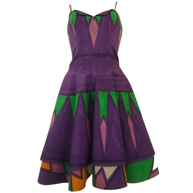 1960s Livio De Simone Multicolored Dress at 1stdibs