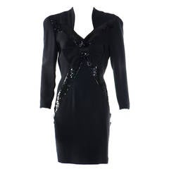 Gai Mattiolo Black Dress