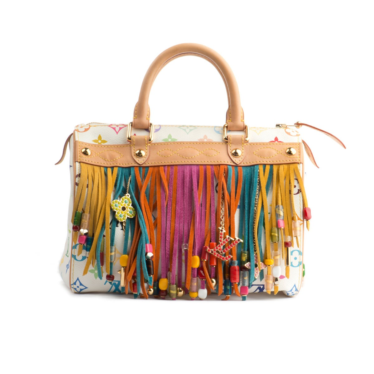 576fdd4d7d14 Fantastic and ultra rare Louis Vuitton multicolor fringe speedy 25 bag  Limited edition made by the