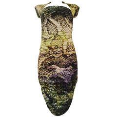 Chiara Boni Multicolored Printed Python Dress