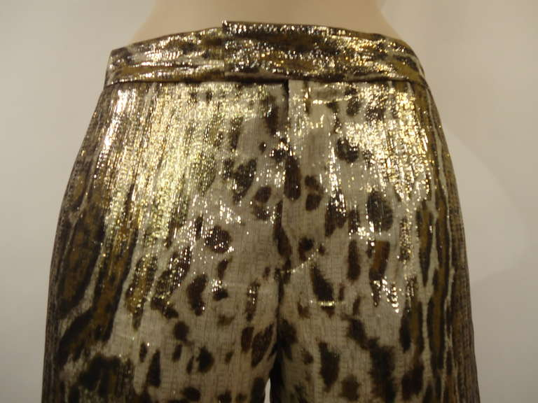Black 2012 Barbara Bui Spotted Silk Pants For Sale