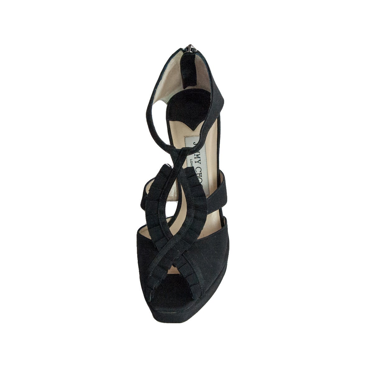 Jimmy Choo Black Satin Sandal 2