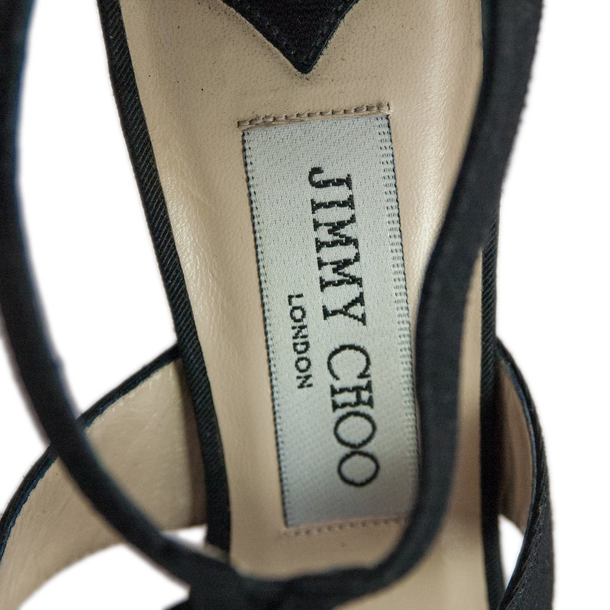 Jimmy Choo Black Satin Sandal 4