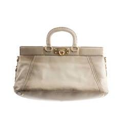 Prada Grey Fumé Leather Handbag