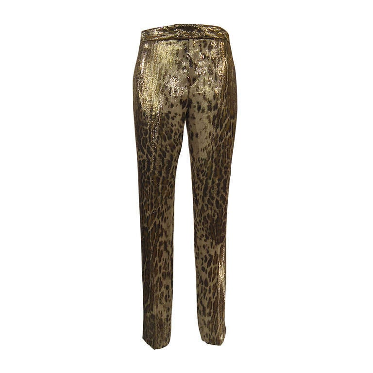 2012 Barbara Bui Spotted Silk Pants For Sale