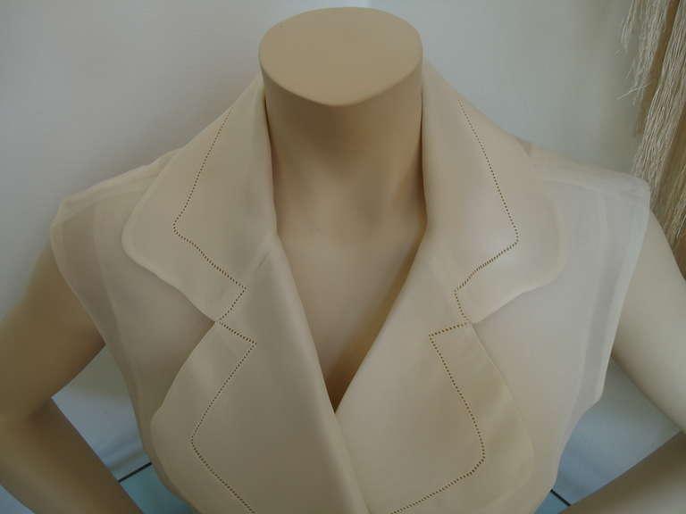 1990s Gianfranco Ferré Ivory Silk Gilet 3