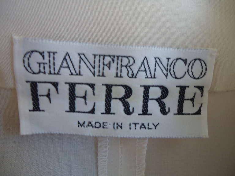 1990s Gianfranco Ferré Ivory Silk Gilet 7