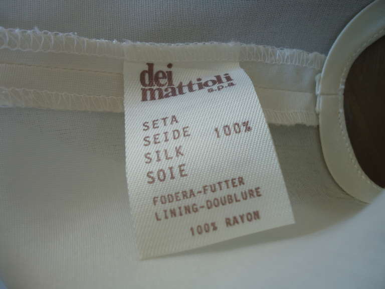 1990s Gianfranco Ferré Ivory Silk Gilet 8