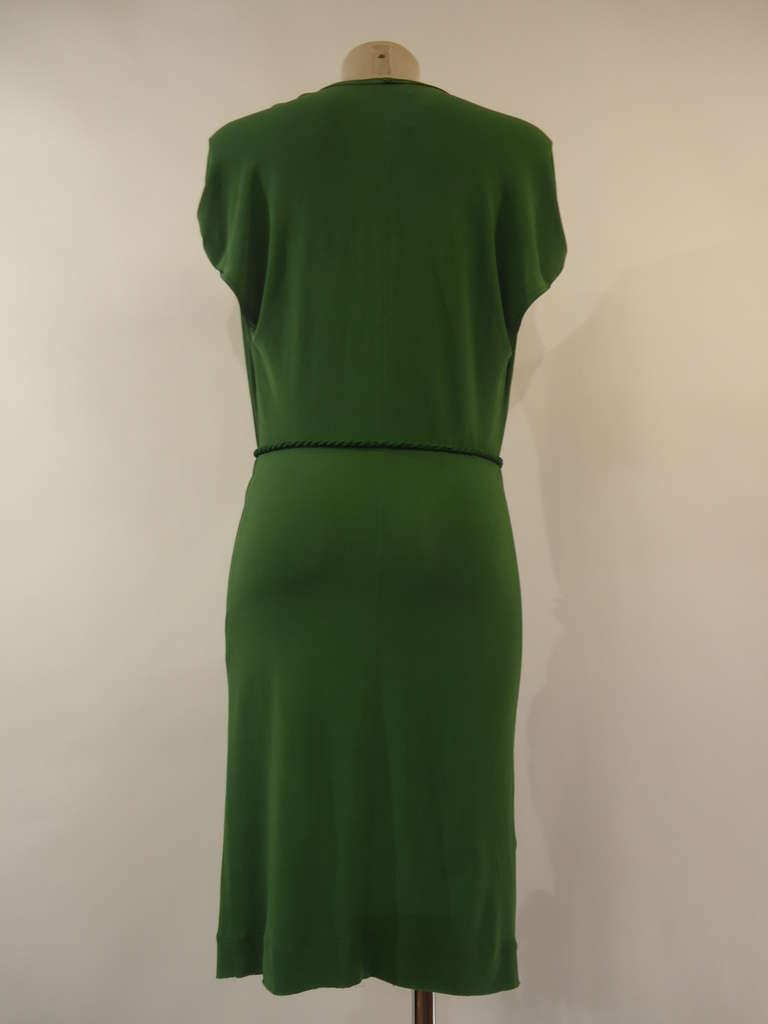 Lanvin Green Short Sleeve Dress 2