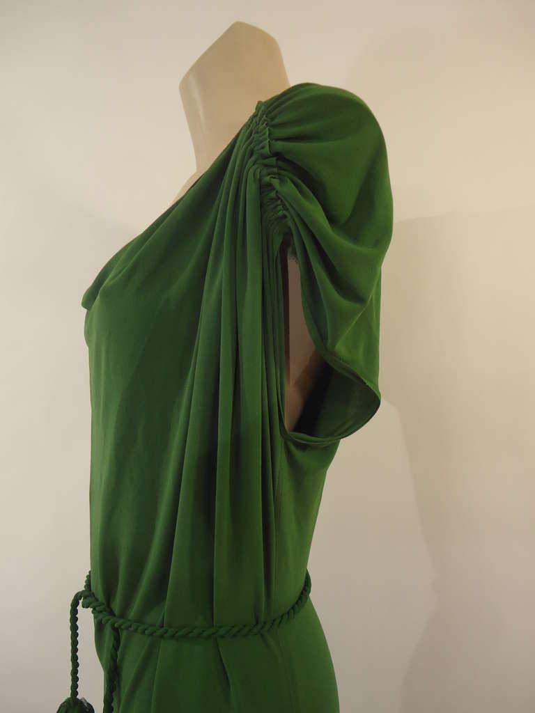 Lanvin Green Short Sleeve Dress 4