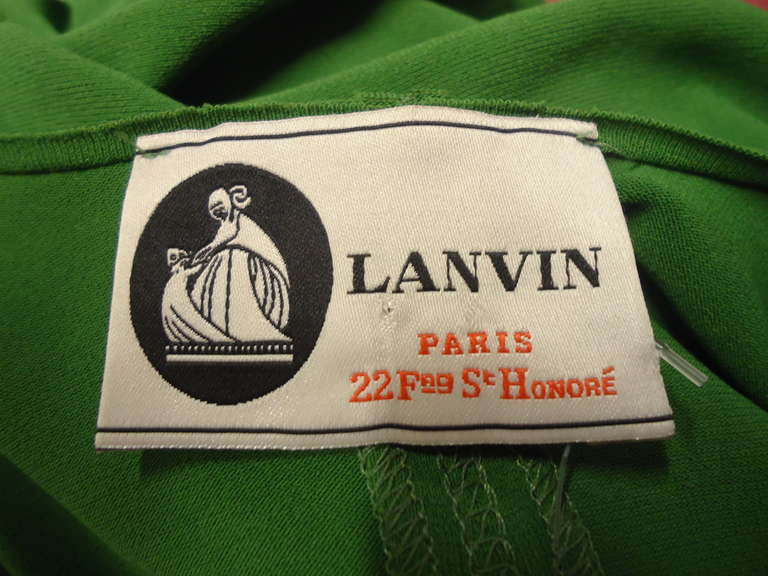 Lanvin Green Short Sleeve Dress 7