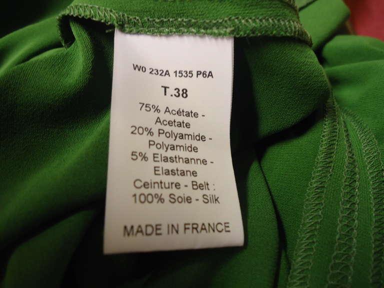 Lanvin Green Short Sleeve Dress 8