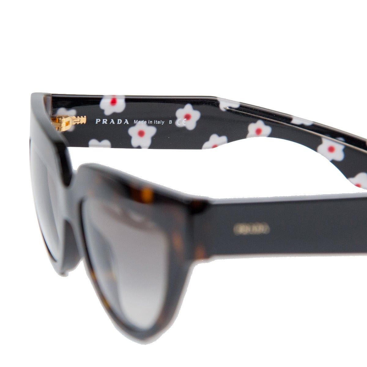 b254a2aa886 Prada Black and Tortoise Flower Sunglasses In Excellent Condition For Sale  In Gazzaniga (BG)