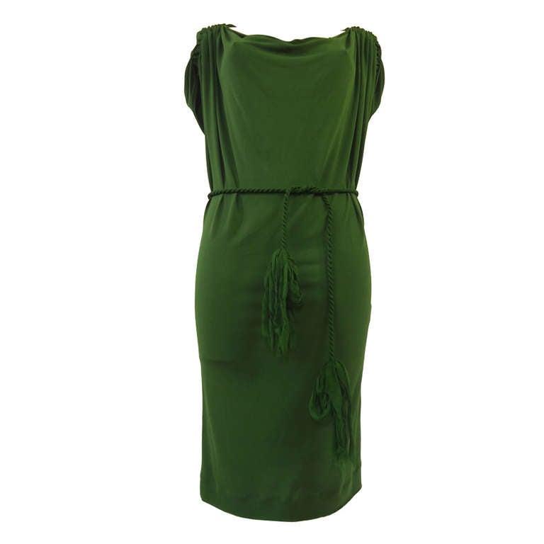 Lanvin Green Short Sleeve Dress 1