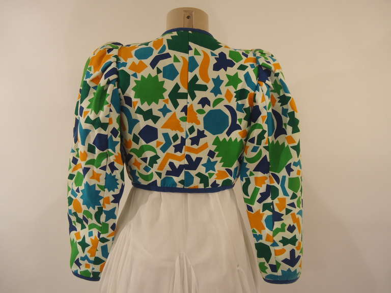 1980's Saint Laurent Rive Gauche Vintage Multicolored Bolero Jacket 2