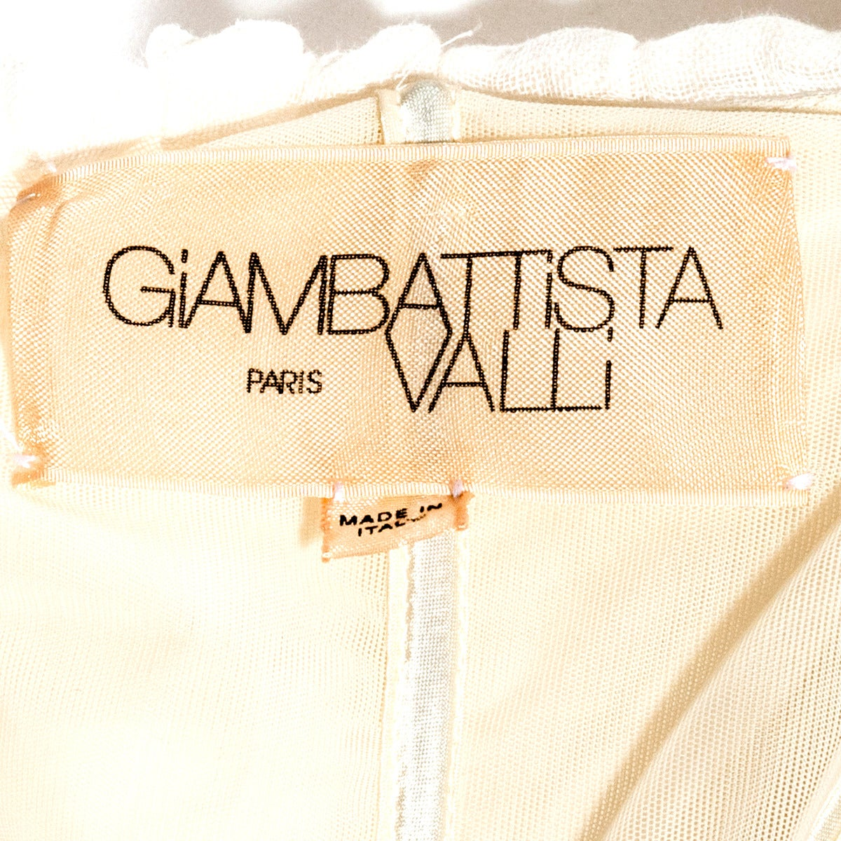 Giambattista Valli Cream Linen Cocktail Dress 4