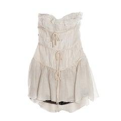 Giambattista Valli Cream Linen Cocktail Dress