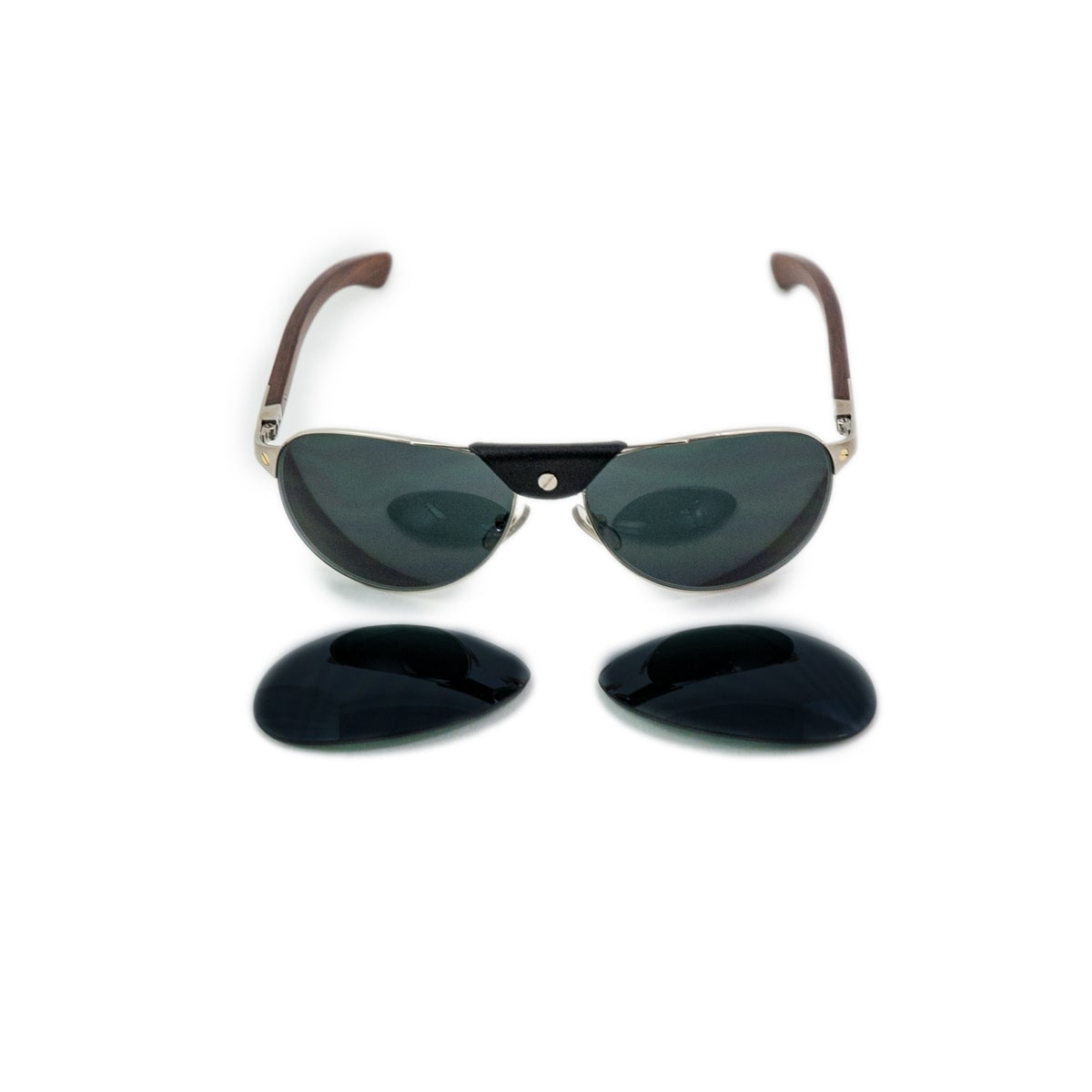 2d907d3df2 Cartier Santos Dumont Aviator Sunglasses at 1stdibs