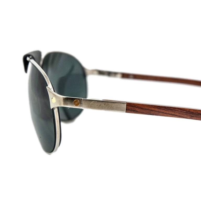 b2c93e78df8c3 Cartier Santos Dumont Aviator Sunglasses In Excellent Condition For Sale In  Gazzaniga (BG)