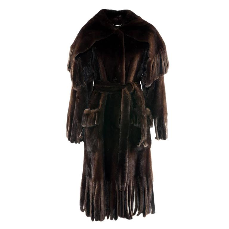 Dolce & Gabbana Mink Fur Coat For Sale