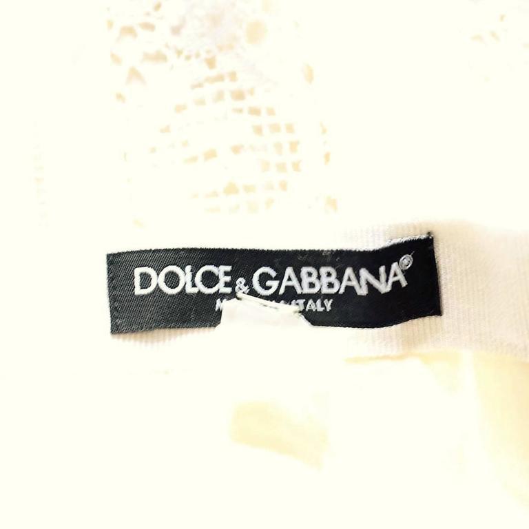 Women's Dolce & Gabbana Lace Silk Skirt Size 42 For Sale