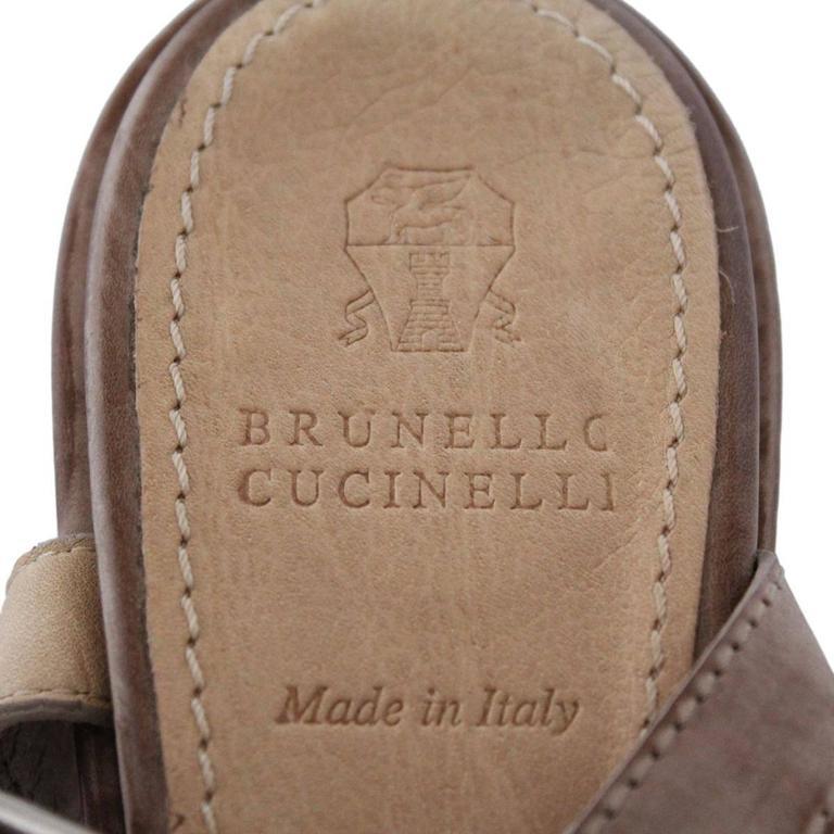 Brunello Cucinelli Brass Sandal 39 5