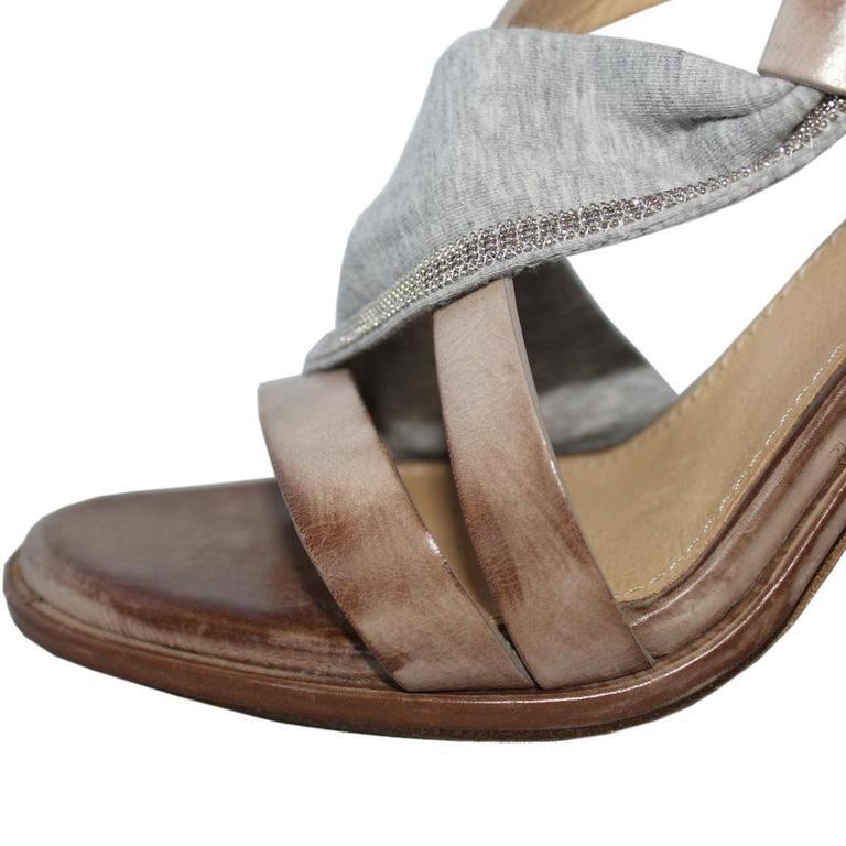 Brunello Cucinelli Brass Sandal 39 4