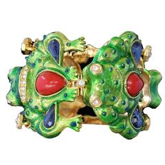 Unique Carlo Zini Frogs Bracelet