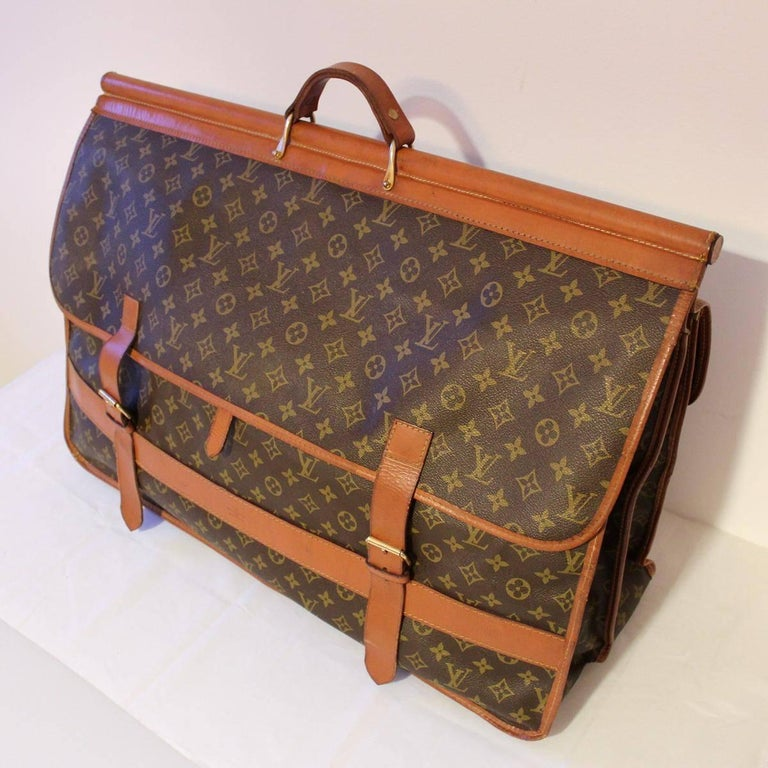 Brown Louis Vuitton Vintage Travel Bag, 1970s For Sale