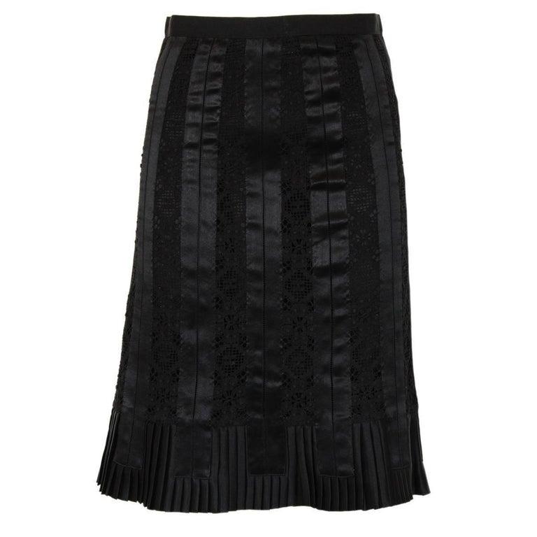 Dolce & Gabbana Lace Silk Skirt Size 40
