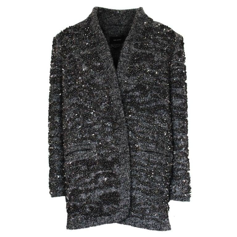 Isabel Marant Alpaca and Sequins Jacket 38/42
