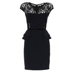 Blumarine Black Lace Dress IT 40