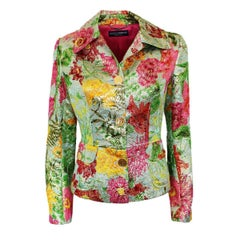 Dolce & Gabbana Embossed mixed textile Floral pattern Special Piece Jacket