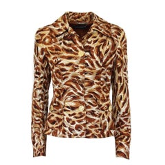 "Dolce & Gabbana Multicolored Embossed silk ""Special Piece"" Jacket"