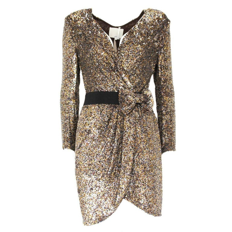 Phillip Lim Golden Sequins Dress 4