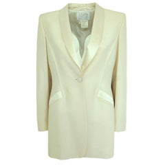 Escada Couture Ivory Smoking Jacket